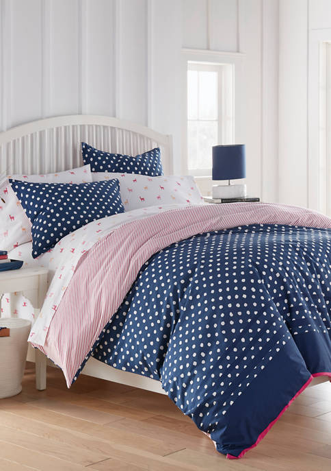 Betsey Johnson 2 Piece Yvie Navy Cotton Comforter