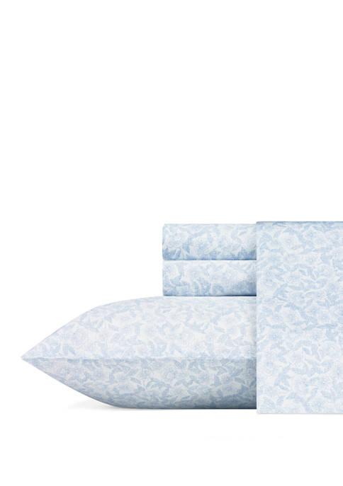 Laura Ashley Blossoming Cotton Sateen Sheet Set