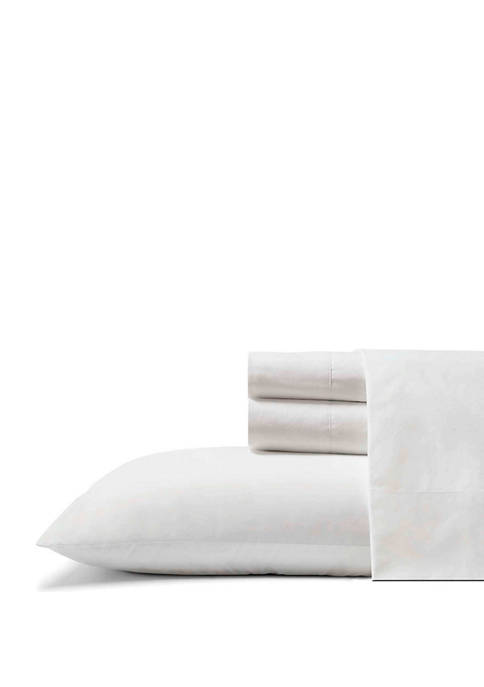 Cool Zone Solid Cotton Sheet Set