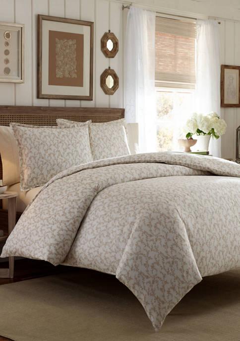 Laura Ashley Victoria Cotton Flannel Comforter Sham Set