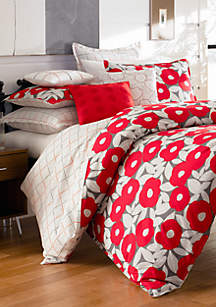 Red Poppy Duvet Collection - Online Only