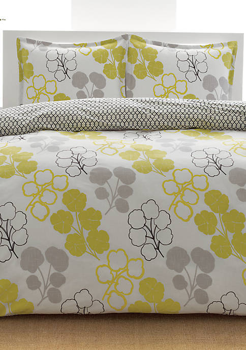 Pressed Flowers Multi Twin Comforter Set 86-in. x 66-in.