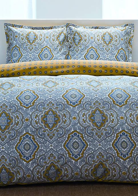 Milan Grey Multi King Comforter Set