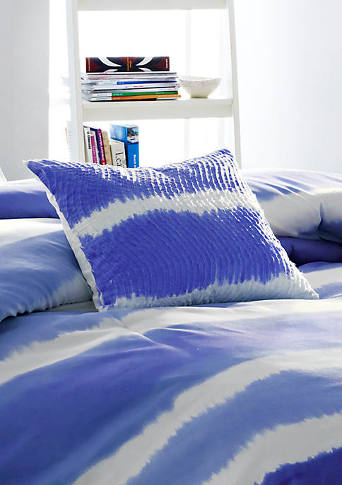 Steve Madden Skylar Indigo Ruffle Decorative Pillow 16-in.