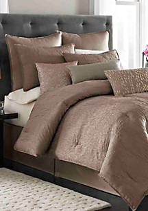 Nicole Miller Park Avenue Taupe Twin Comforter Set 86 In X 66
