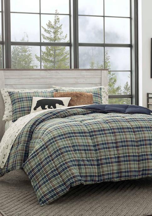 Eddie Bauer Rugged Plaid Microsuede Comforter Sham Set