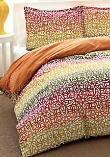 Fiesta Stripe Multicolored Twin Comforter Set 86-in. x 66-in.