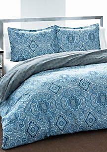 Milan Blue Multi Duvet Set
