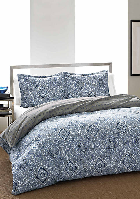 Milan Blue Full/Queen 2-Piece Reversible Bed In A