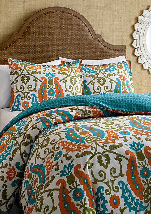Constantine Teal Full/Queen Duvet Set 88-in. x 88-in.