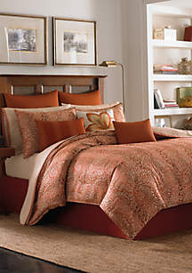 Prince of Paisley Cinnabar King Sheet Set - Fitted 80-in. x 78-in. + 15-in. pocket