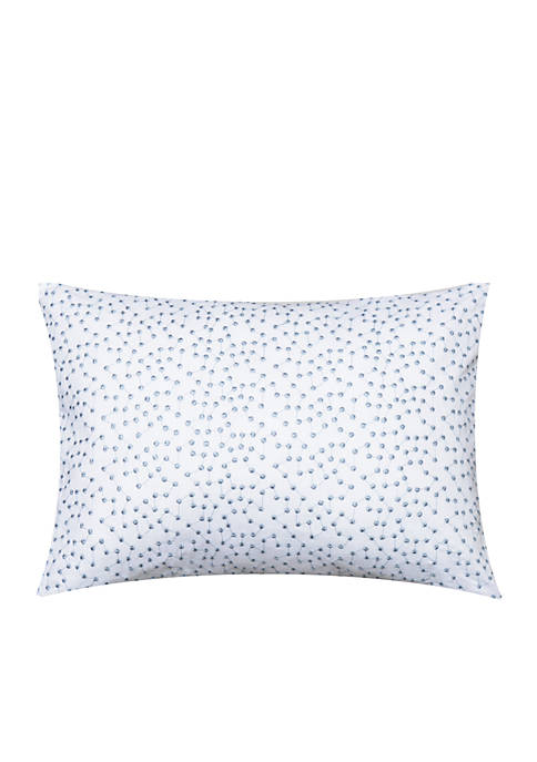 Delphine Embroidered Dots Decorative Pillow 16-in. x 12-in.