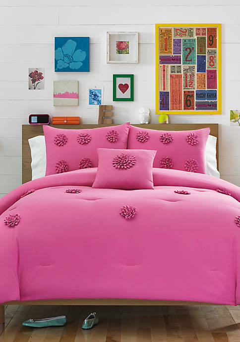 Monica Mimosa Pink Twin Comforter Set 68-in. x 86-in.