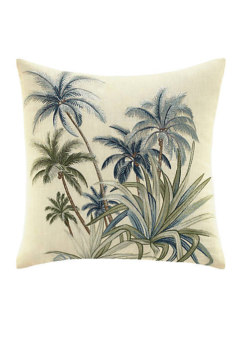 Serenity Palms Palm Tree Decorative Pillow 14-in. x