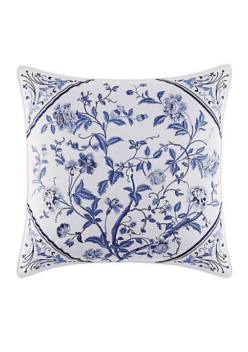 Laura Ashley Charlotte Embroidered Square Pillow