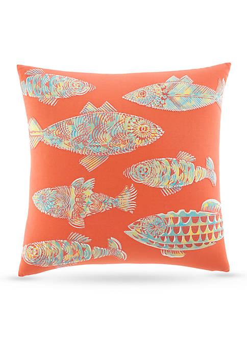 Batic Fish Decorative Pillow