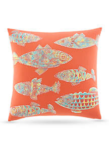 Batic Fish Decorative Pillow