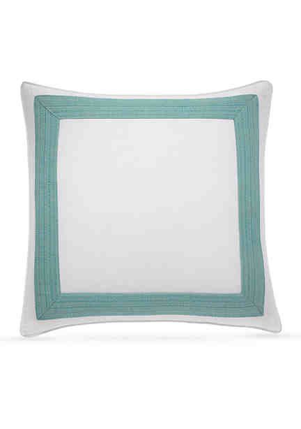 Tommy bahama mitered decorative pillow 18 in x 18 in