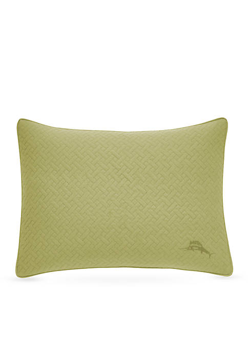 Quilted Basketweave Decorative Pillow 12-in. x 16-in.