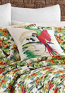 Parrot Cove Painted Parrot Decorative Pillow