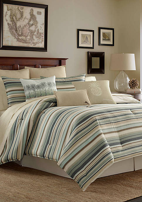 Tommy Bahama® Canvas Stripe Comforter Set
