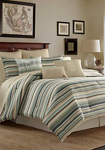 Canvas Stripe Comforter Set