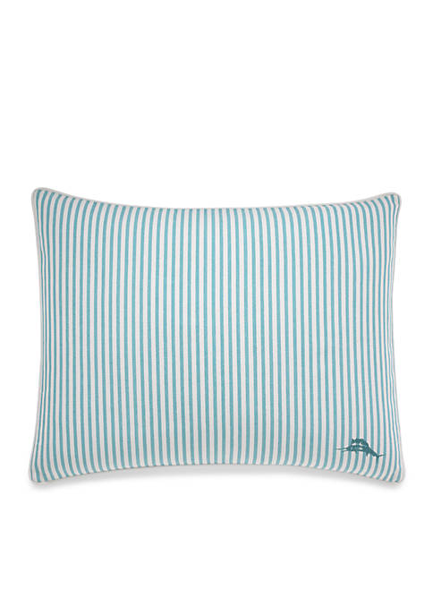 Tommy Bahama® Canvas Stripe Breezer Palm Decorative Pillow
