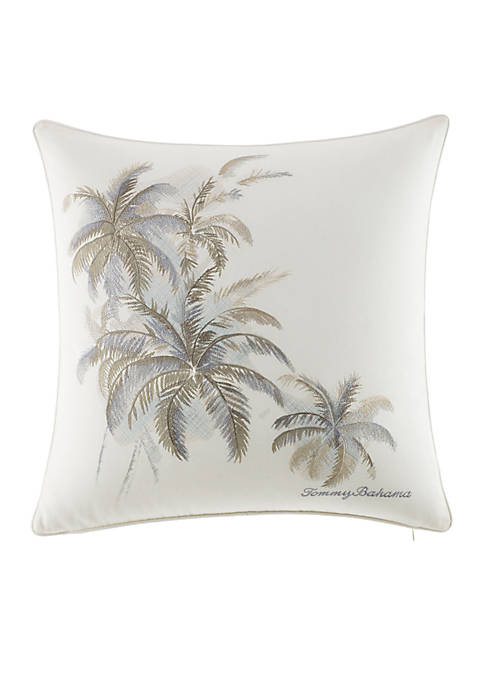 Tommy Bahama® Shoreline Embroidered Palm Decorative Pillow