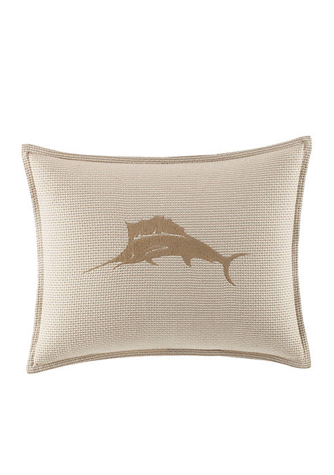 Tommy Bahama® Shoreline Embroidered Marlin Logo Breakfast Pillow