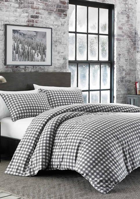 Eddie Bauer Preston Cotton Flannel Comforter Sham Set