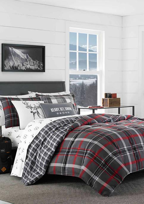 Eddie Bauer Willow Plaid Microsuede Comforter Sham Set