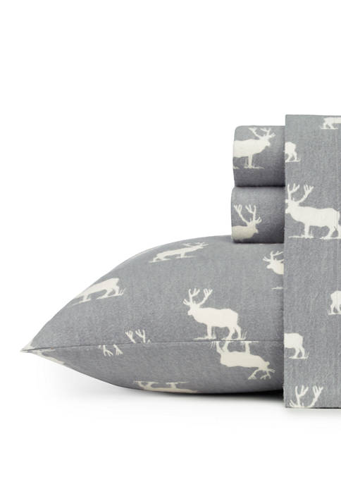 Eddie Bauer Elk Grove Cotton Flannel Sheet Set