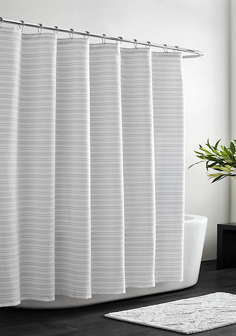 Textured Stripe Shower Curtain Collection