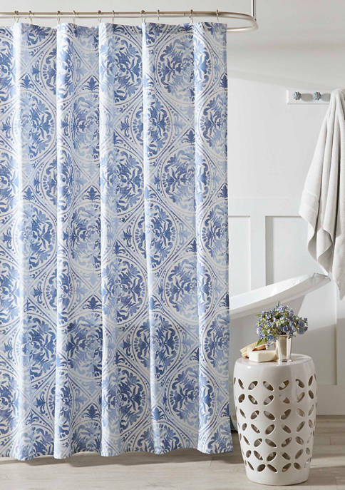72 in x 72 in Mila Cotton Rich Shower Curtain