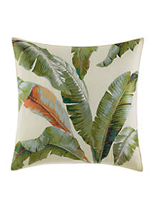 Tommy Bahama® Palmiers Embroidered Palm Throw Pillow