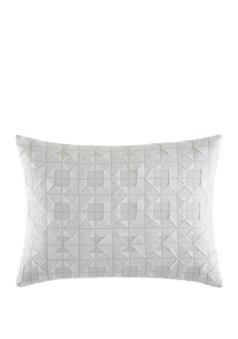 Tuille Floral Origami Stitching Throw Pillow