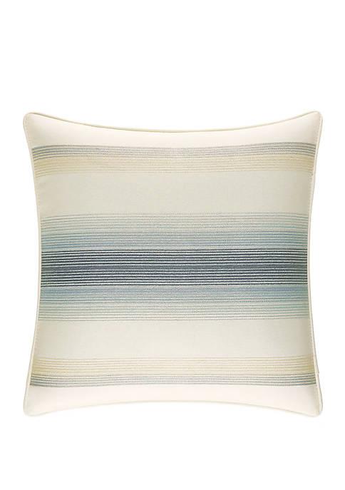 La Prisma Stripe Embroidered Throw Pillow
