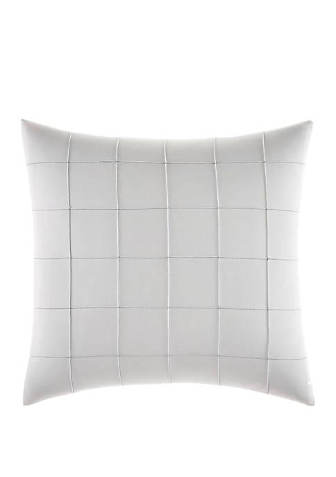 Shibori Grid Pin Tuck Plaid Throw Pillow