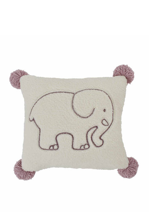 Ivory Ella Ella Solid Sherpa Decorative Pillow