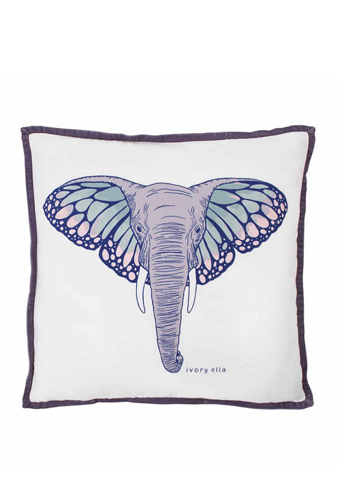 Ivory Ella Monarch Sherpa Decorative Pillow