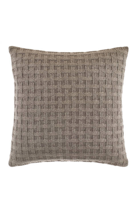 Nautica Saybrook Mocha Cotton Decorative Pillow