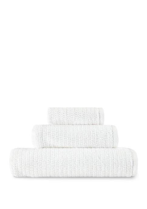 Ellen DeGeneres Joy Solid White Organic Cotton Towel