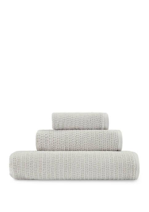 Ellen DeGeneres Joy Solid Gray Organic Cotton Towel