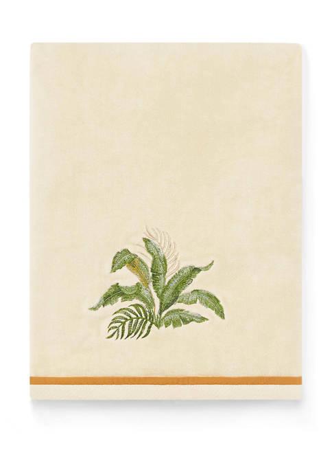 Set of 2 Palmiers Cotton Bath Towels