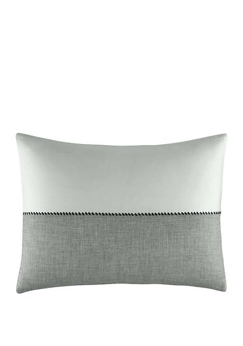 Degrade Woven Color Block Throw Pillow