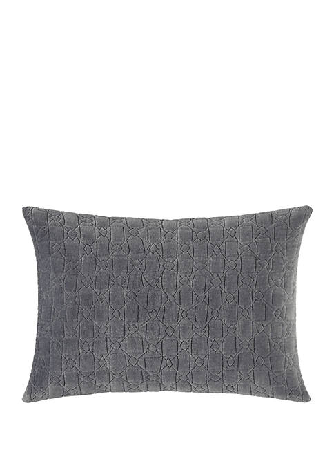 Melange Gauze Quilted Throw Pillow