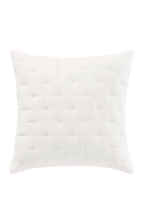 Luster White Throw Pillow