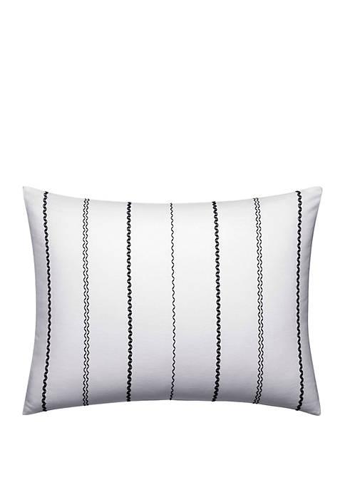Ink Botanical Chevron Stitching Breakfast Pillow
