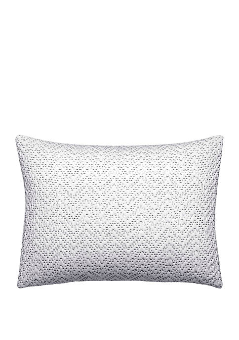 Ink Botanical Crinkle Quilted Chevron Breakfast Pillow