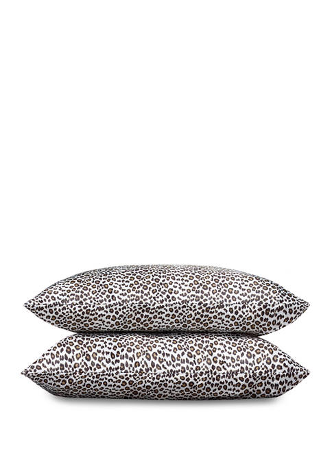 Betsey Johnson Betseys Leopard Satin Pillowcase Set
